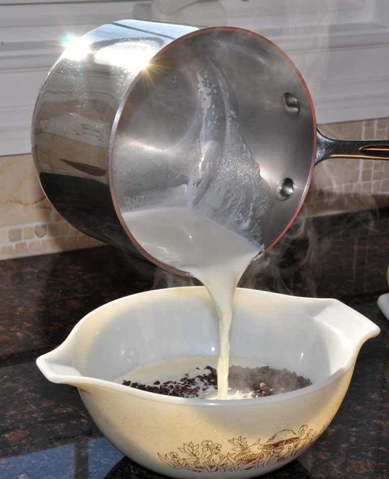 Heavy cream and chocolate chips