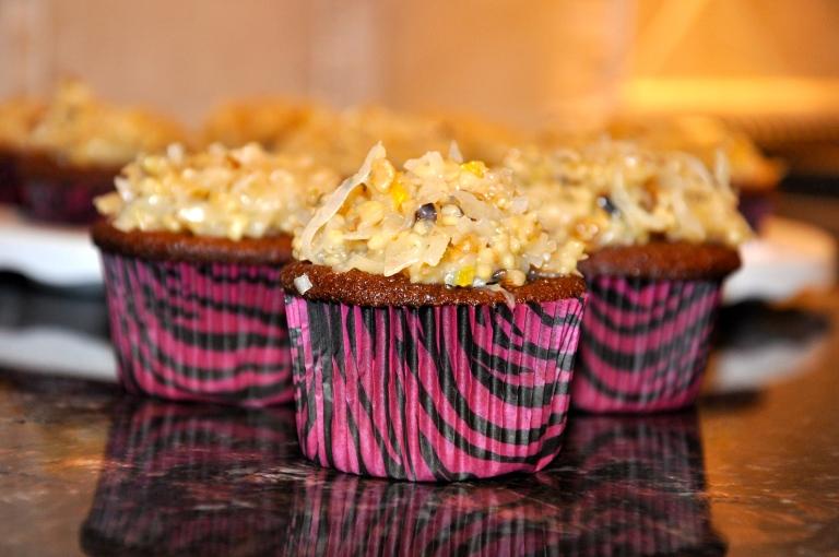 German Chocolate Cupcakes!