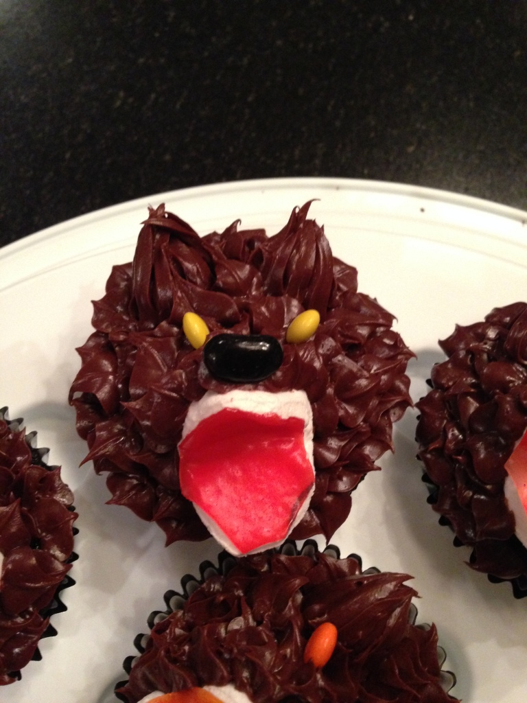 Scary delicious chocolate werewolves!