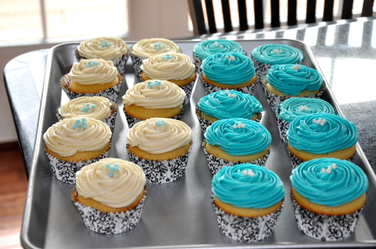 Beautiful and baked cupcakes
