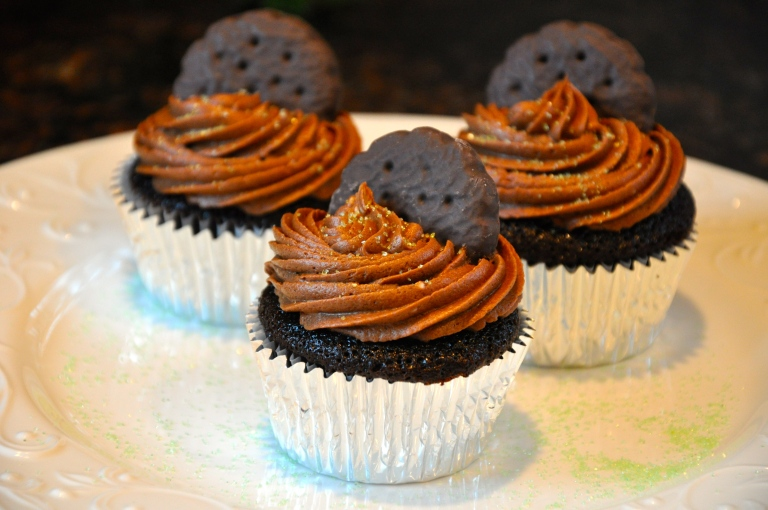 Girl Scout Thin Mint Cupcakes